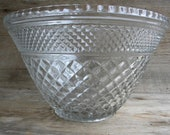 Vintage Wexford by Anchor Hocking Large Punch Bowl Punch Bowl Wexford by ANCHOR HOCKING Wexford Pattern Large Bowl Punch Bowl
