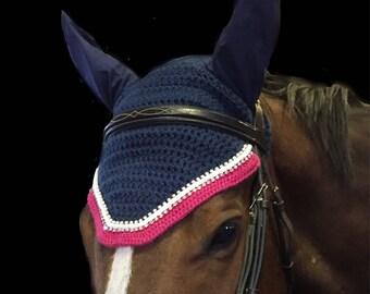"Custom ""Original"" Horse Fly Bonnet/ Handmade Equestrian Fly Veil"