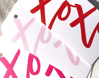 Hanging Gift Tag - XOXO