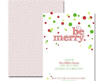 Be Merry Holiday Invitations