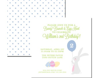 Bunny + Balloon Invitation