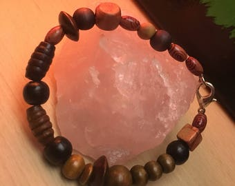 Mixed Wood Bead Bracelet