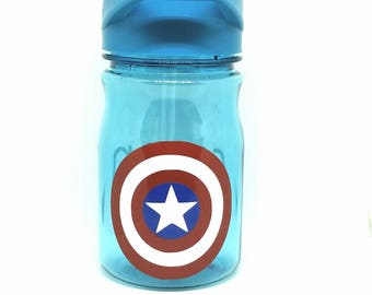 f10491aebb Personalized captain America 12 oz water bottle/straw cup/ tumbler