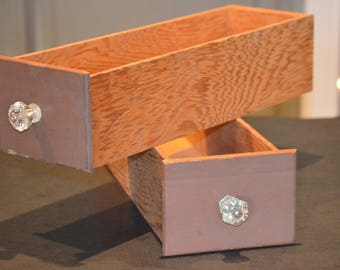 Drawers with Vintage Glass Knobs