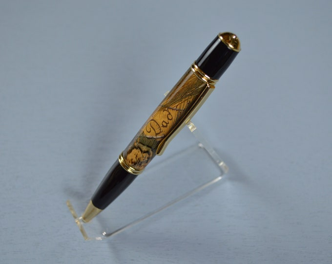 Pheasant Feather Pen for Dad, Outdoorsman Gift,  #0121