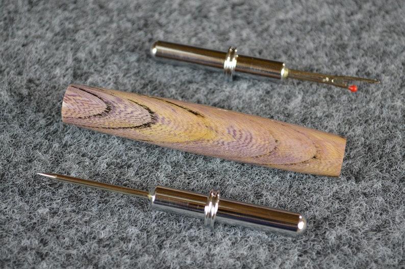 099 Seam Ripper in Purple Wood Seamstress Tool Stitch Remover