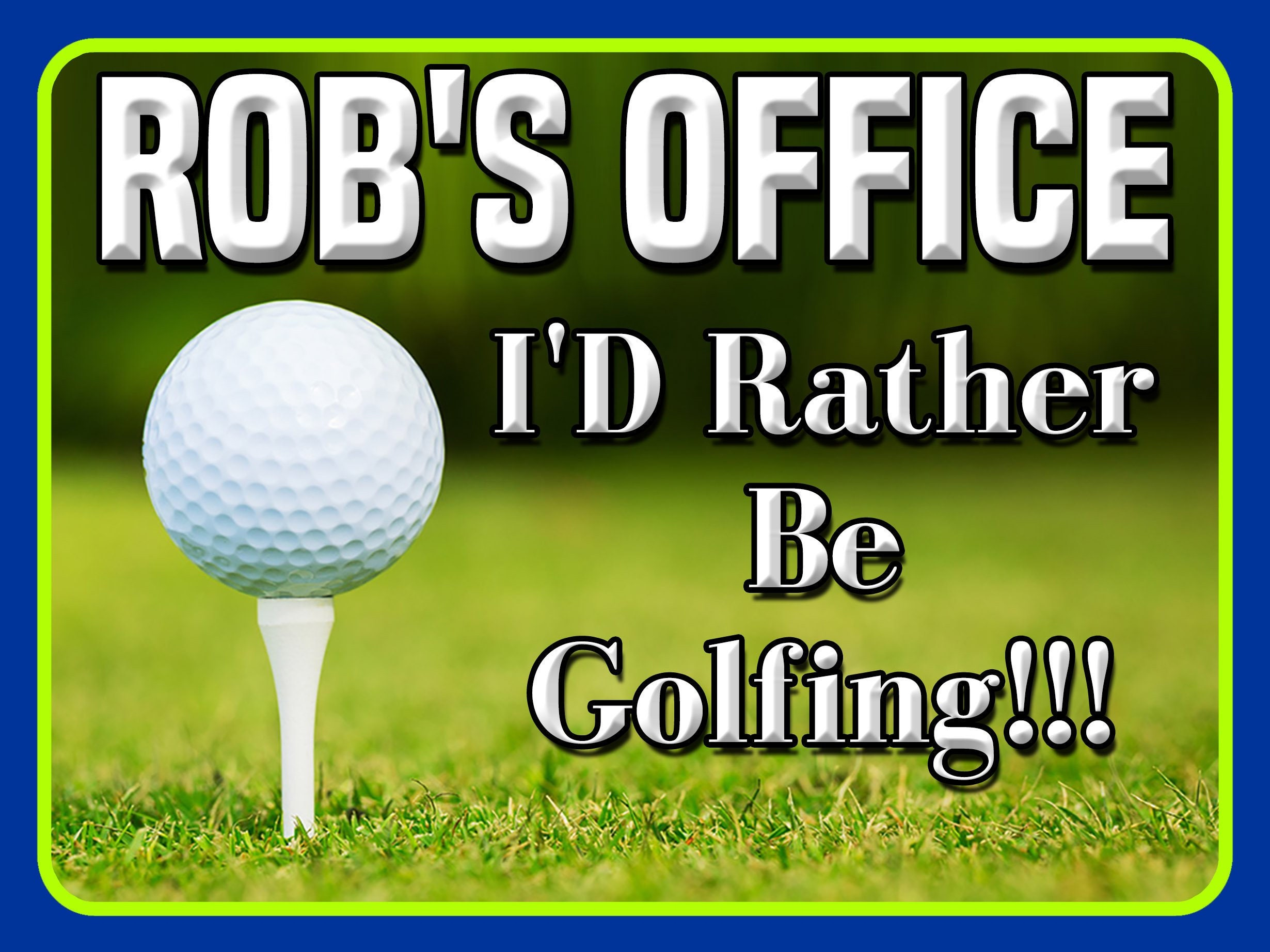 Custom Golf Sign   Golf Sign, Classic Sign, Golf Lovers Gift, Personalized  Wall Signs, Classic Sign,Home Decor Gift, Wall Hangings, Dad Gift