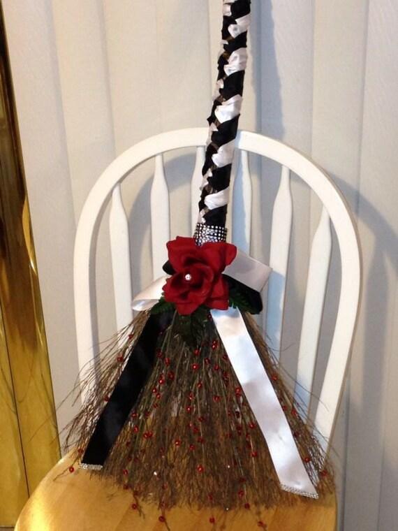 Elegant Wedding Broom Design For Jumping The Broom Wedding Etsy