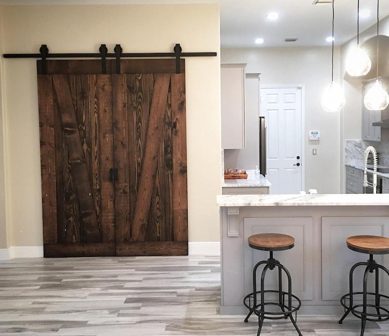 On Sale Again Wooden Barn Door Unique Handmade Interior Etsy