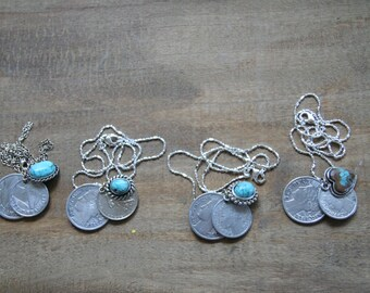 Old 1940's French Coin Earrings, all the same price, you choose ..