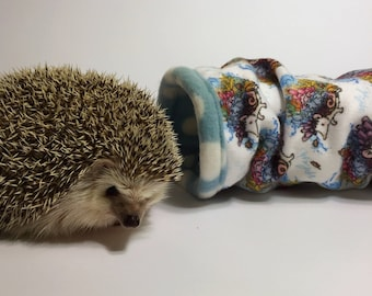 Sea Splash Tropical Coral Reef Hedgehog Patterned Cozy Fleece Tunnel / Tube for Hedgehogs and Other Small Animals, Rats, Sugar Gliders