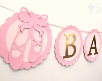 b94057dedf18 Ballerina Tutu Party Banner. Baby girl Birthday Party