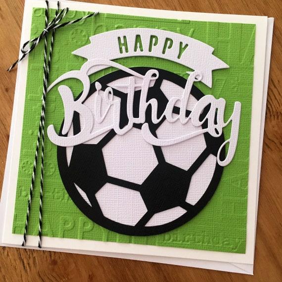 Soccer Birthday Card Soccer Ball Football Happy Birthday Etsy