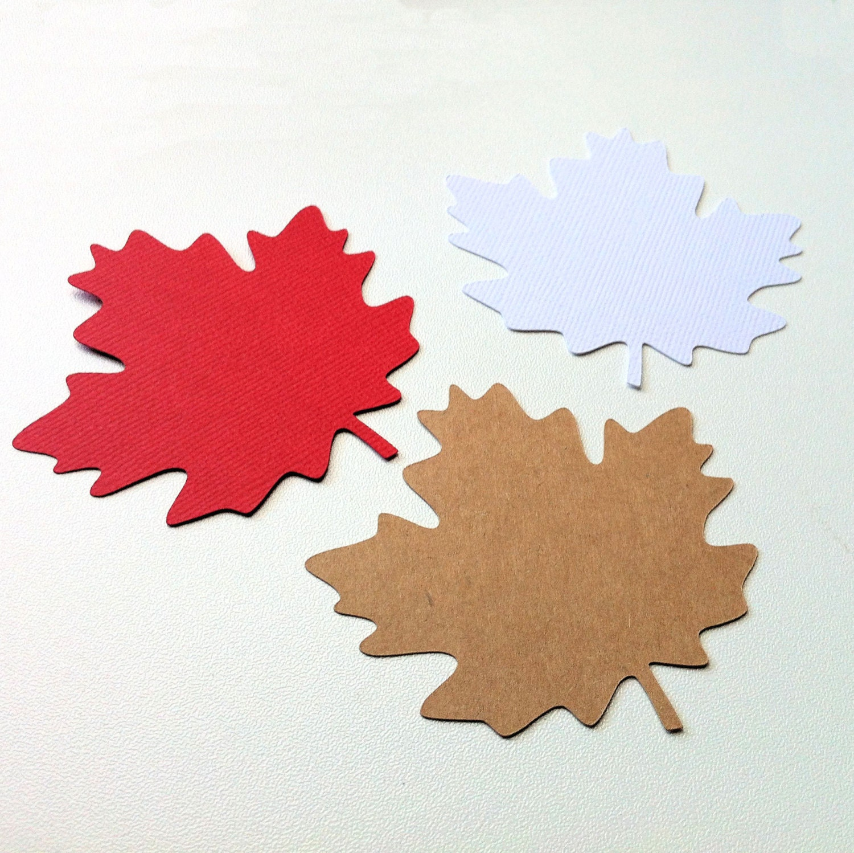 Maple Leaf shapes embellishments. Autumn Fall decor gift   Etsy