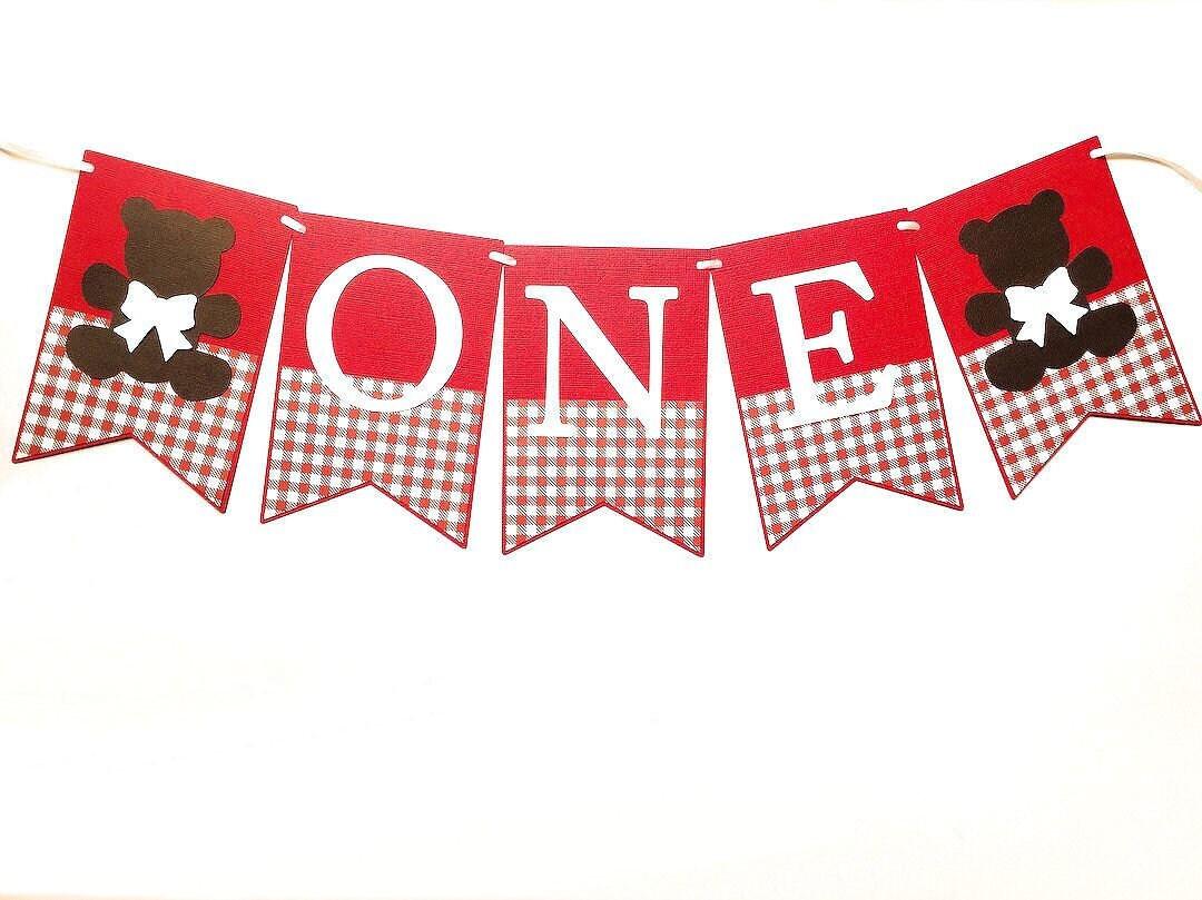 Teddy Bear Banner ONE. Teddy bear\'s picnic. Birthday party   Etsy
