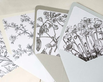 ADD-ON Floral Envelope Liner, Vintage Envelope Liner, wedding invitations, Longest Time Design