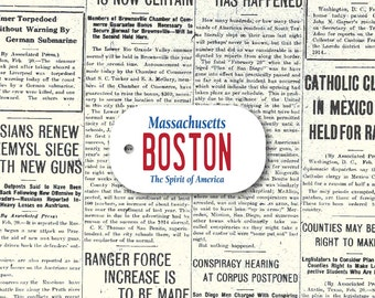 Customisable Dog Tag (USA State License Plate Type) / Massachusetts