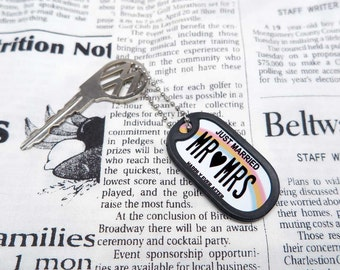 Customisable Dog Tag (USA State License Plate Type) / Hawaii (Just Married)