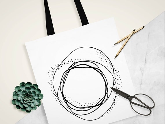 Jimi Hendrix Silhouette Canvas Tote Shopping Bag Cotton Printed Shopper Bag Gift