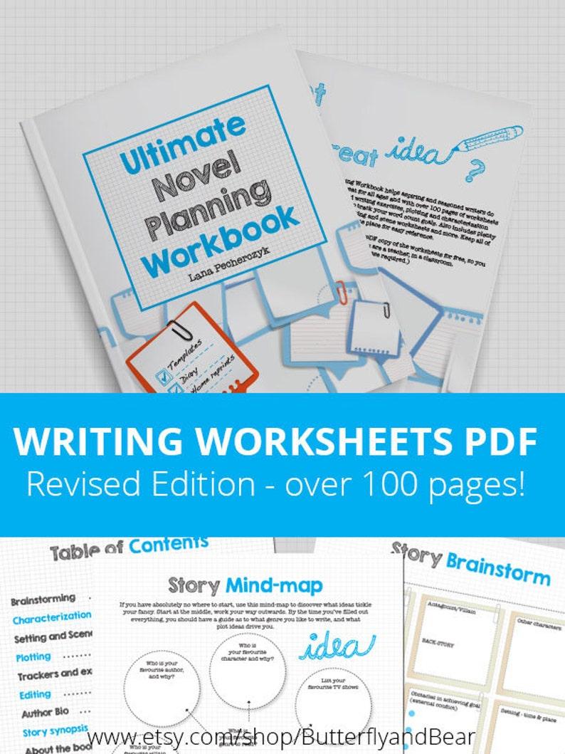 Ultimate Novel Planning Workbook  Printable worksheets image 0