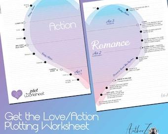 Romance Writing Plotting Worksheet – Digital Download