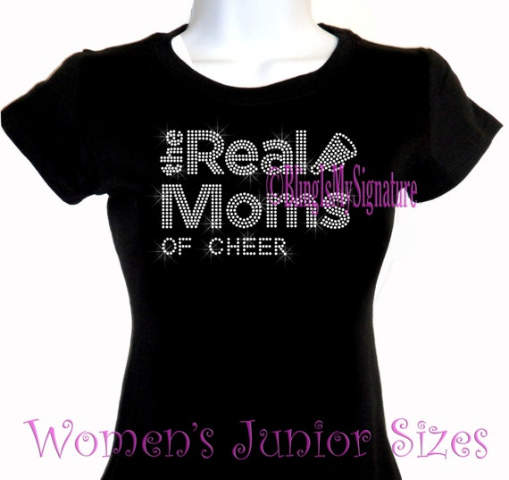 Rhinestone Iron on T-Shirt From Her Mom Sports Top CHEER She Got It