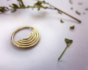 Indian Septum, Gold Septum, Septum Ring, Septum Jewelry, Gold Tragus, Tribal Tragus, Helix Piercing, Cartilage Earring, Septum Hoop