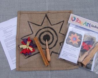Rag Rug cushion pad star design