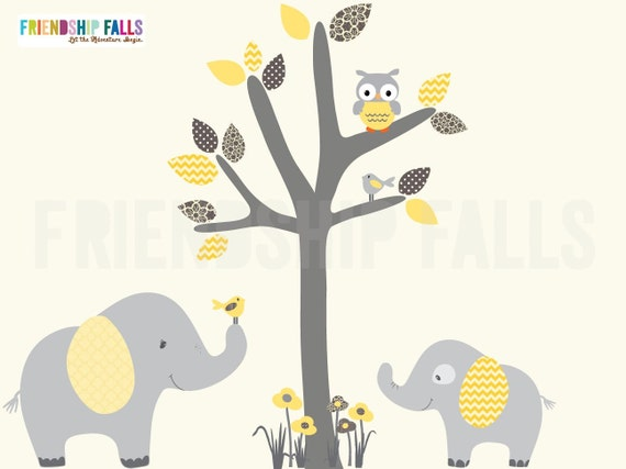 mini jungle decals small elephant wall decal nursery wall | etsy