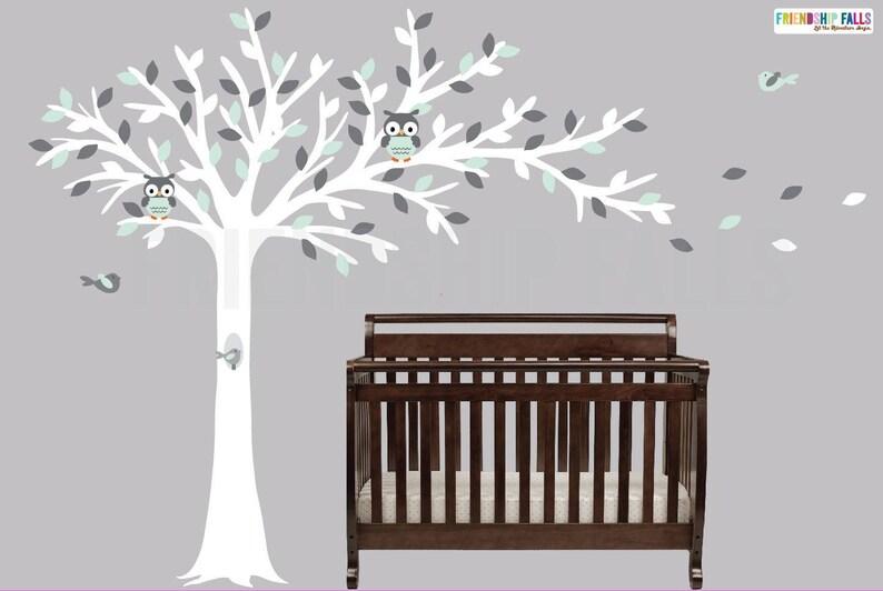 Weht Baum Baum Eule Eule Wandtattoo Kinderzimmer | Etsy
