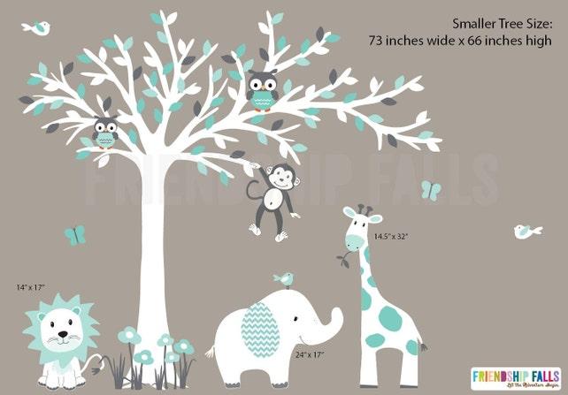 Kindergarten Aufkleber Dschungel Wandtattoos Kinderzimmer | Etsy
