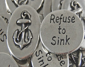 Anchor Refuse to Sink Inspiration Coins - SET OF 10