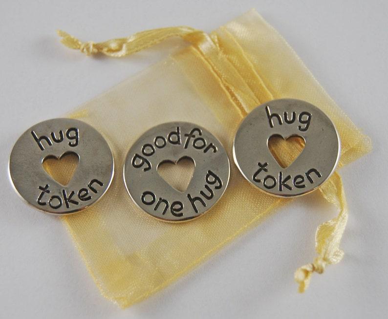 Set of 3 Hug Pocket Pieces with Organza Bag image 0