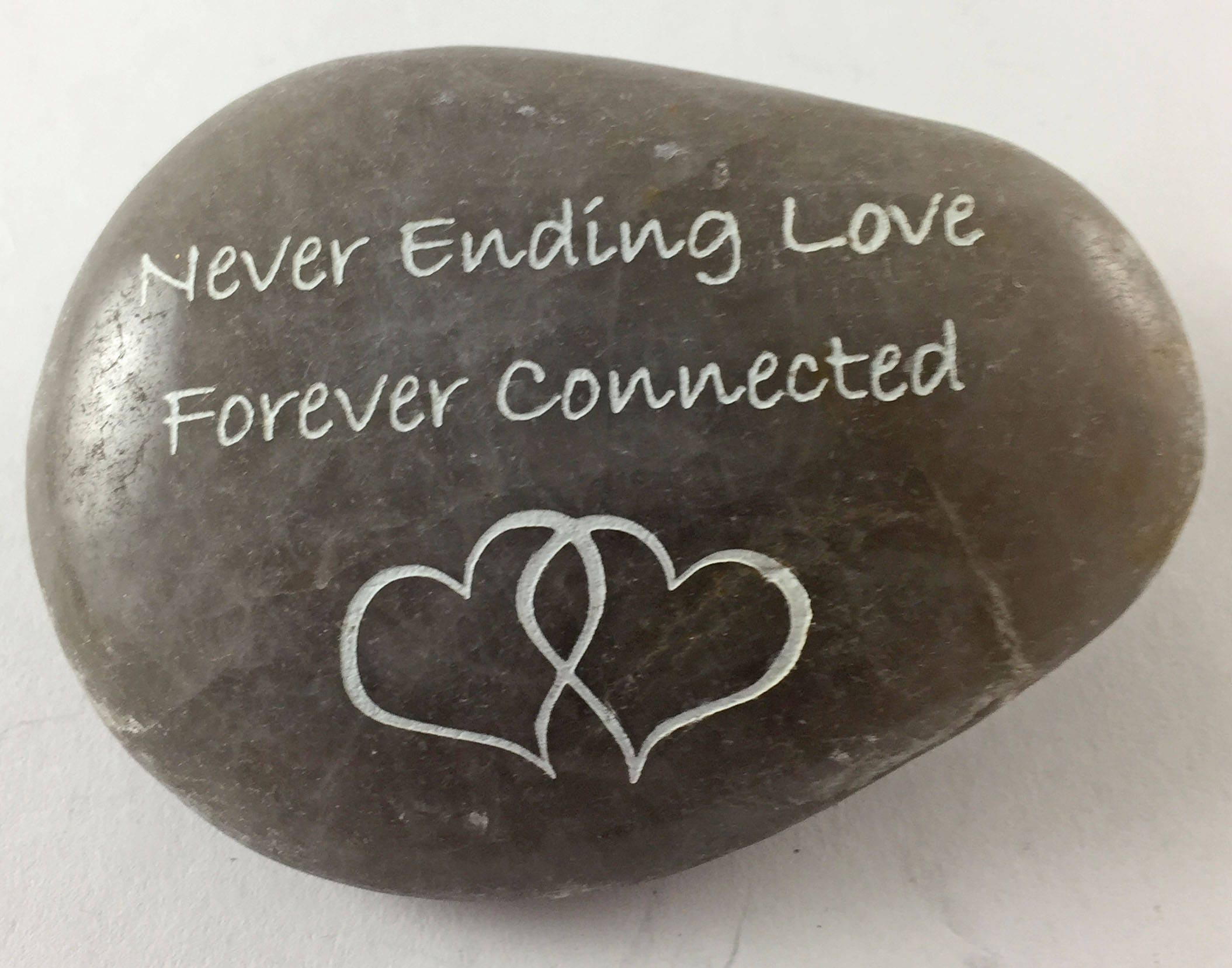 Never Ending Love Forever Connected Wtwo Hearts Entwined Etsy