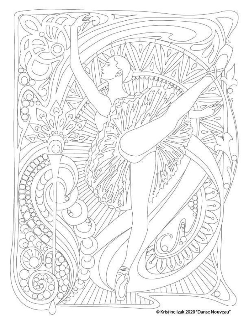Danse Nouveau Coloring Page 1  Attitude image 0