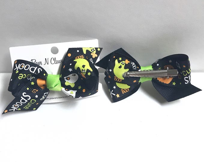 To cute to spook hair bow clip