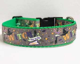 """1"""" Witch way to the Candy Dog Collar"""