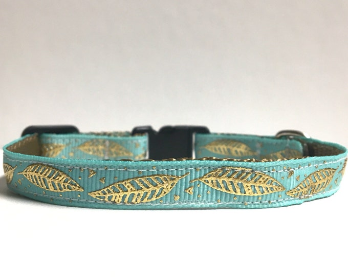 """3/8"""" Feather Gold foil collar"""