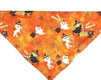 Cute Halloween Ghost & Witch Bandana