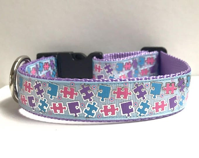 "1"" Puzzle Pieces Collar"