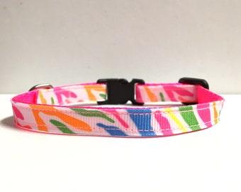 "3/8"" Neon zebra stripes"