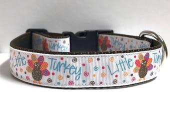 "1"" Little Turkey Dog collar"