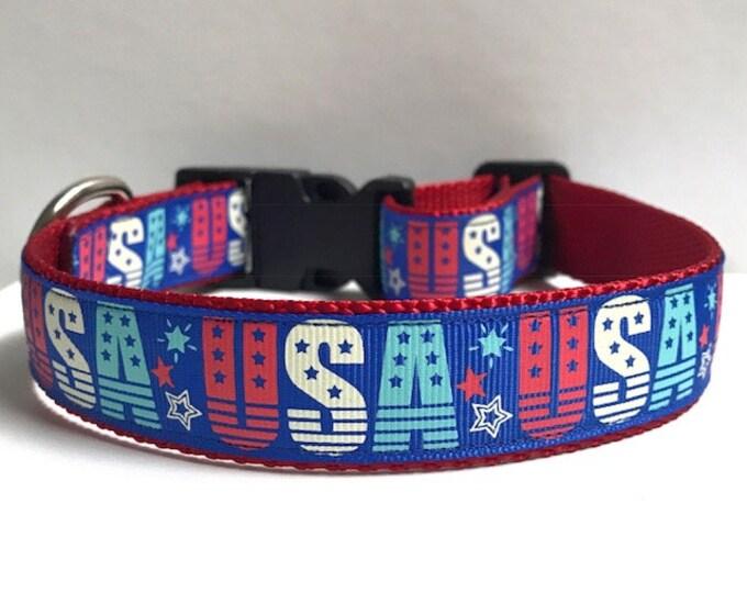 """1"""" USA and Stars Collar"""