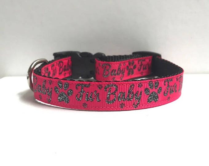 "5/8"" Furbaby on Pink Collar"