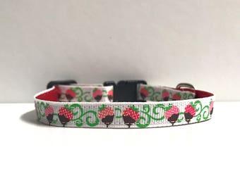 "3/8"" Chocolate Strawberry collar"