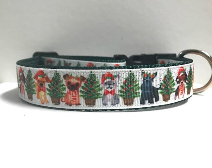 """1"""" Pup Christmas Dog Collar"""