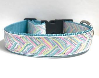 "1"" Unicorn Braid Dog Collar"