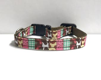 """3/8"""" Country Patchwork collar"""