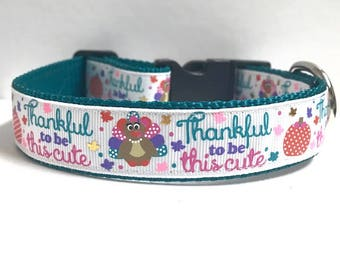 "1"" Thankful to be this Cute Collar"