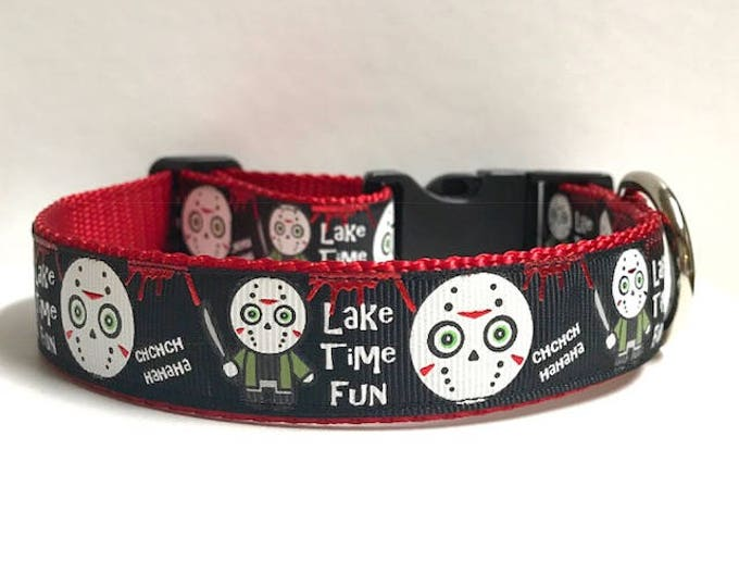 "1"" Lake Time Fun Dog Collar"